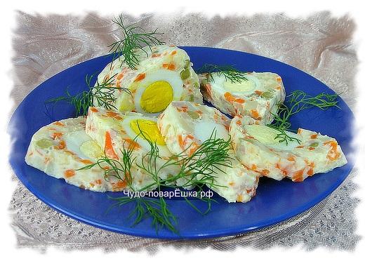 Праздничный салат-желе