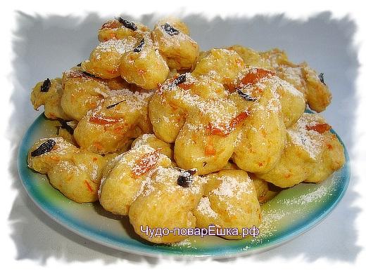 Творожно-морковное печенье Тигровое