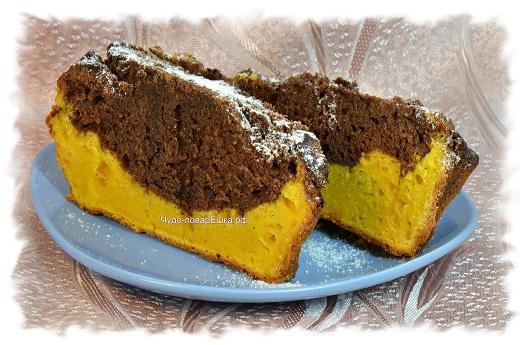 Тыквенно шоколадный кекс