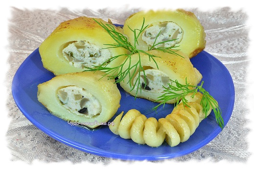 Фаршированный картофель Добрая традиция