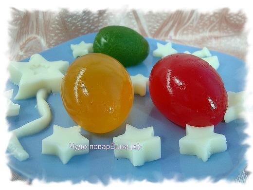 Желе Пасхальные яйца