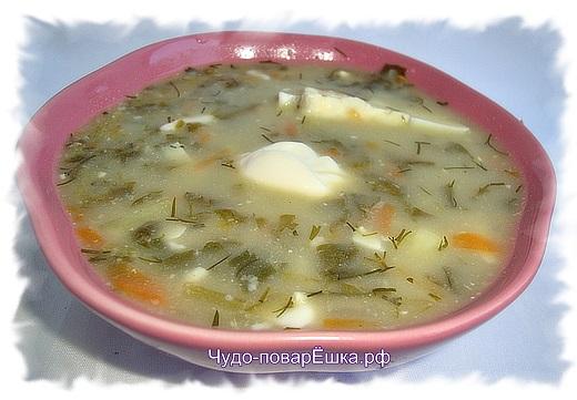 Суп зелёный с щавелем и крапивой