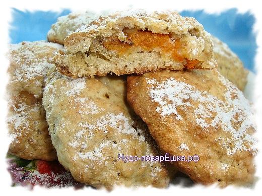 Овсяное печенье с начинкой