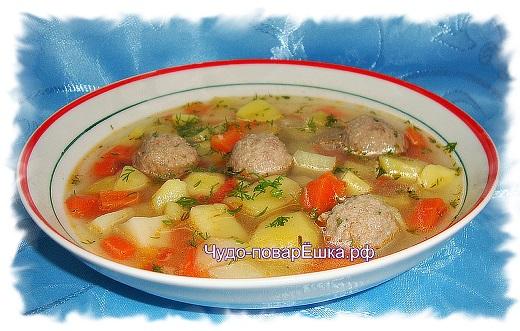 Ирландский суп с фрикадельками