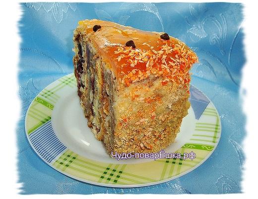 Тортик Вишнёво-апельсиновый