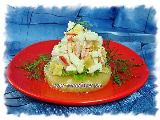 Закуска Салат на ананасах