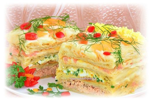 Новогодний закусочный торт Календарь