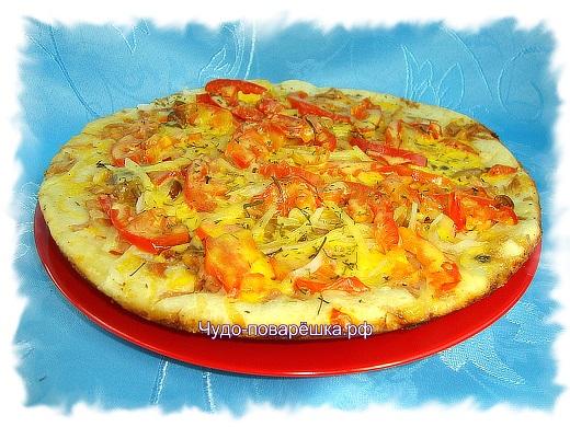 Пицца на сковороде  Минутка