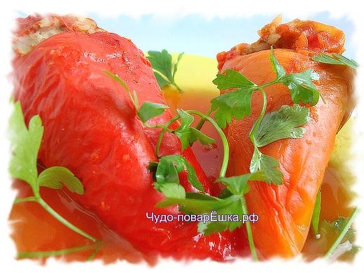 Перцы в помидорной заливке