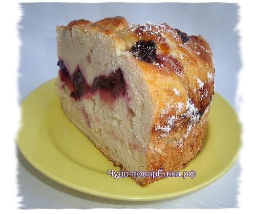 Пирог Яблочно-вишнёвый