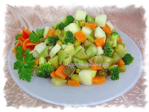 Салат Зелёные тона